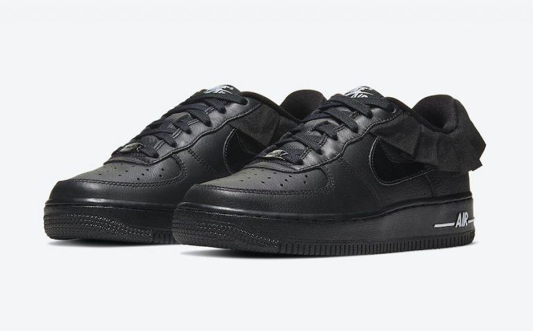 Nike Air Force 1 LV8 GS Black Ruffle